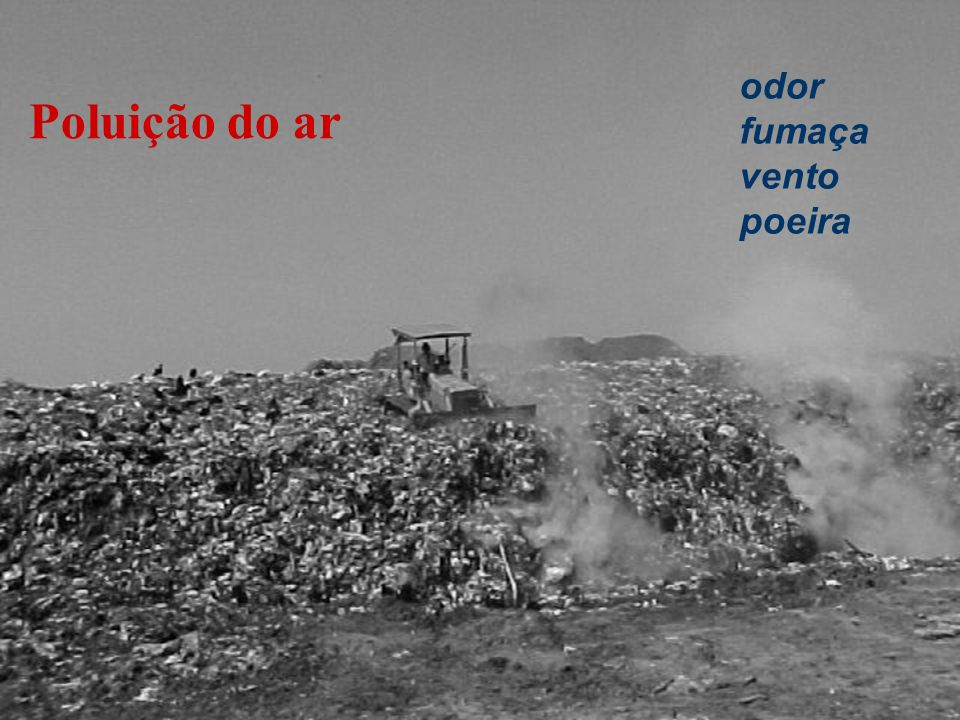Poluição do ar odor fumaça vento poeira