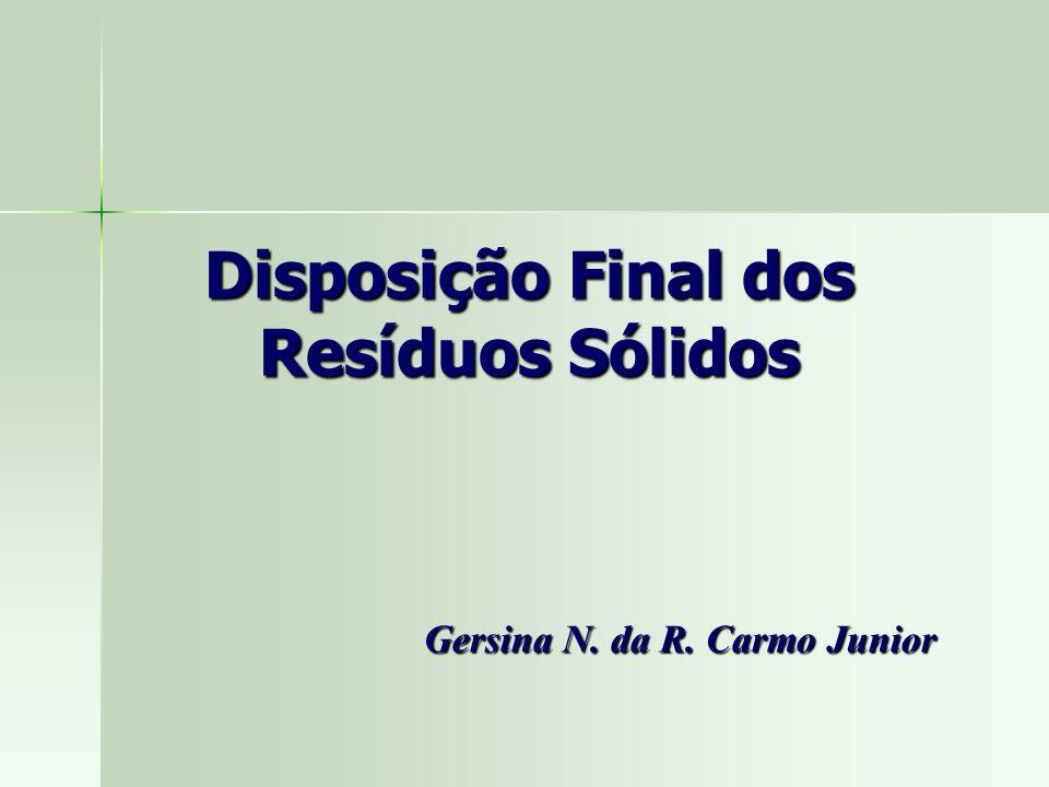 Gersina N. da R. Carmo Junior Disposição Final dos Resíduos Sólidos