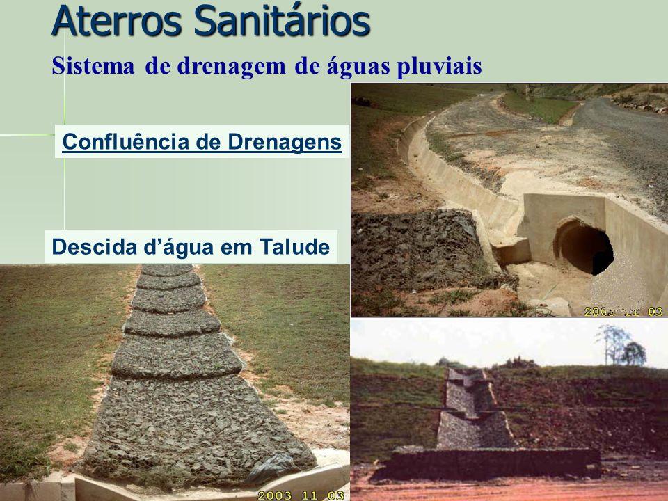 Confluência de Drenagens Descida dágua em Talude Aterros Sanitários Sistema de drenagem de águas pluviais