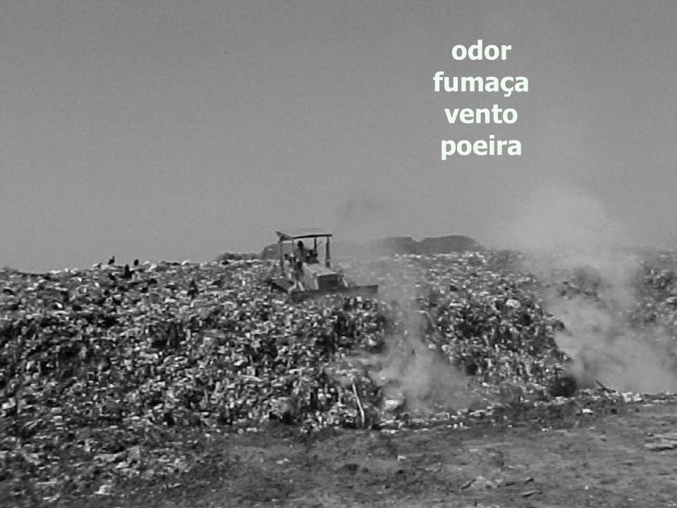 odor fumaça vento poeira