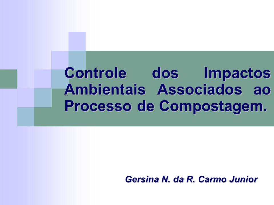 Controle dos Impactos Ambientais Associados ao Processo de Compostagem. Gersina N. da R. Carmo Junior