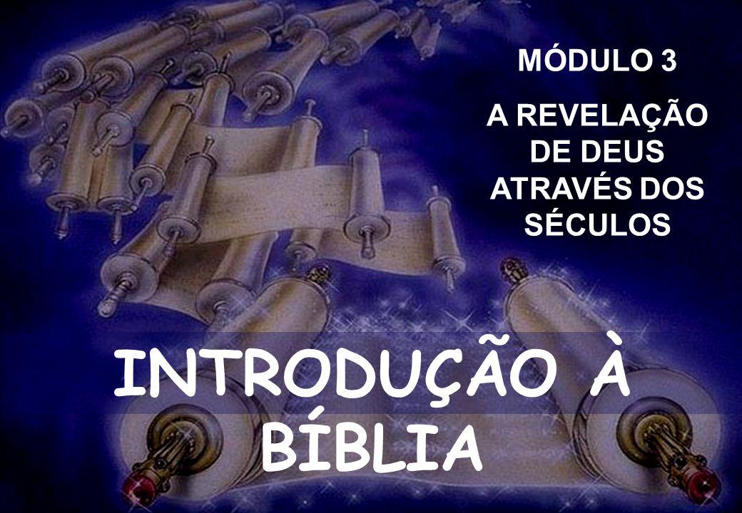 INTRODUÇÃO À BÍBLIA SEMINÁRIO DA NOVA IGREJA BATISTA SEMINÁRIO NOVA IGREJA BATISTA INTRODUÇÃO À BÍBLIA MÓDULO 3 A REVELAÇÃO DE DEUS ATRAVÉS DOS SÉCULO