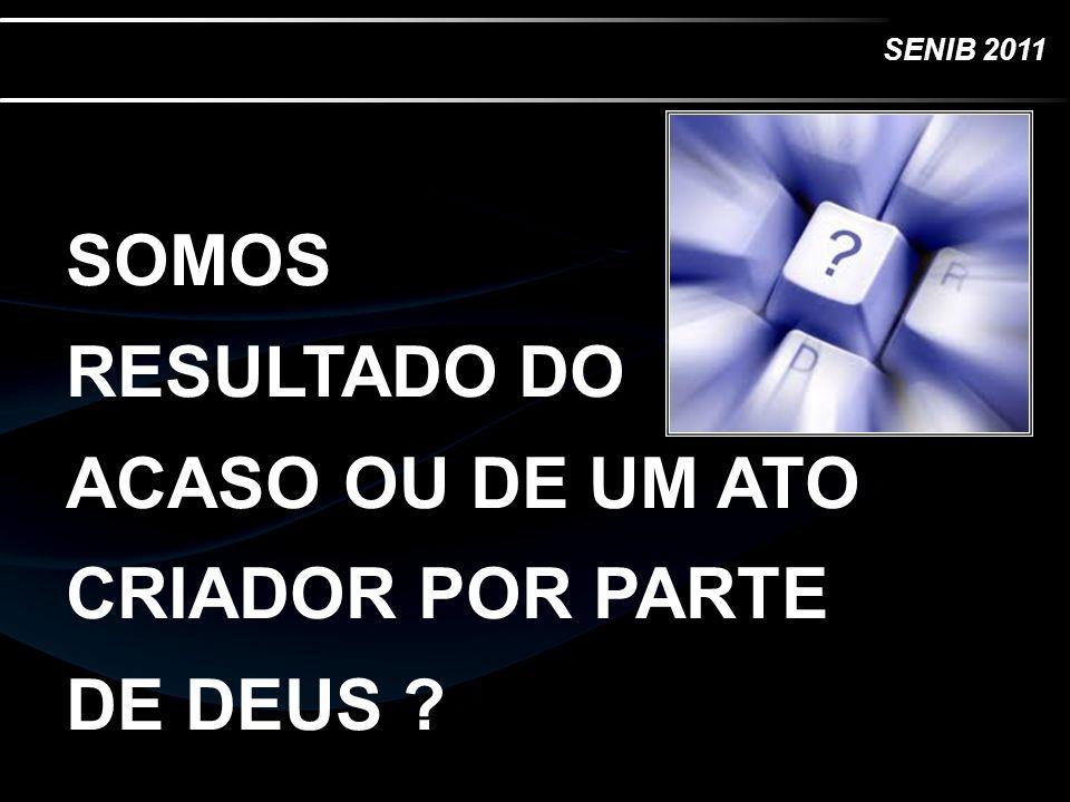 SENIB 2011 E disse Deus: Haja... luz ENERGIA DEUS CRIOU TODA FORMA DE ENERGIA O COMEÇO DE TUDO