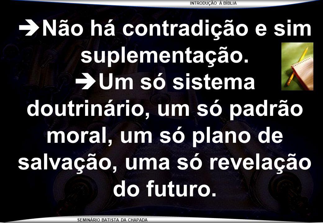 INTRODUÇÃO À BÍBLIA SEMINÁRIO BATISTA DA CHAPADA PARA CASA... ESTUDAR PARA A PROVA !
