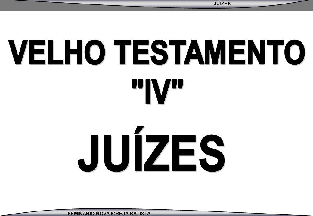 JUÍZES SEMINÁRIO NOVA IGREJA BATISTA 1º PERÍODO DE OPRESSÃO – JZ 3:7-11 1.