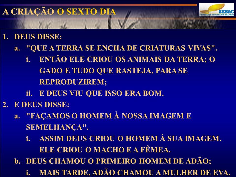 1.DEUS DISSE: a.