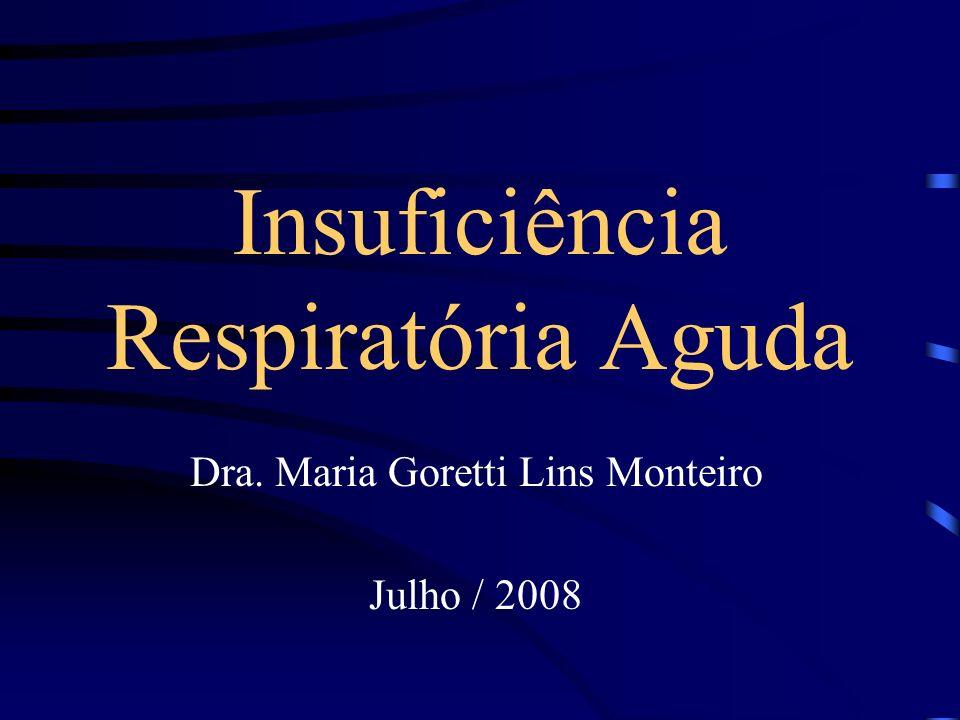 Insuficiência Respiratória Aguda Dra. Maria Goretti Lins Monteiro Julho / 2008
