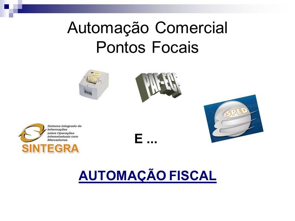 Automação Comercial Pontos Focais AUTOMAÇÃO FISCAL E...