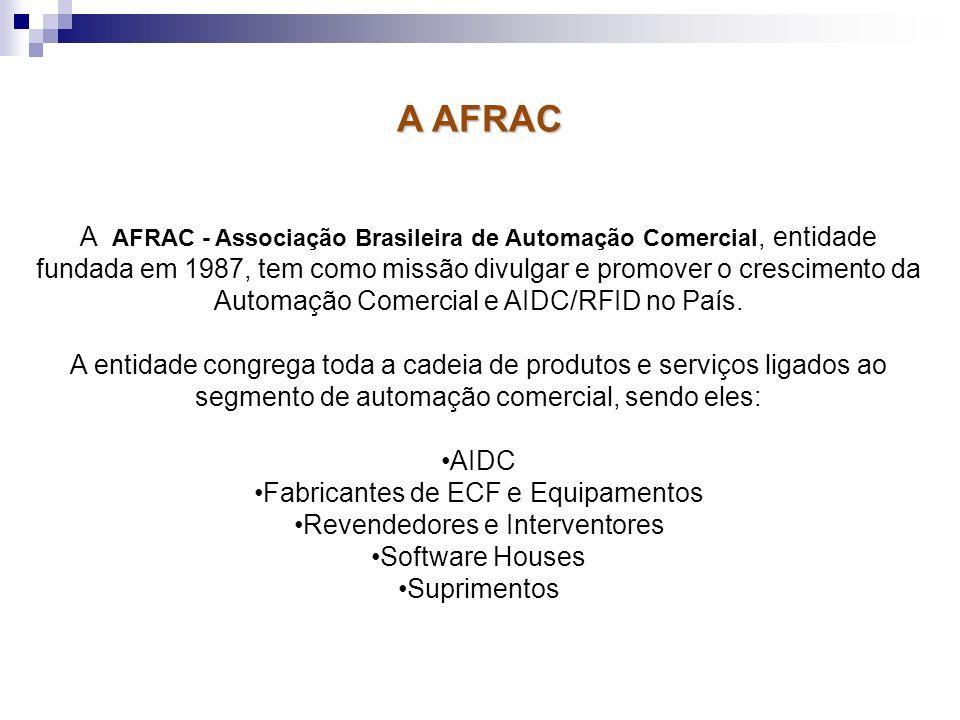 A AFRAC - Associação Brasileira de Automação Comercial, entidade fundada em 1987, tem como missão divulgar e promover o crescimento da Automação Comer