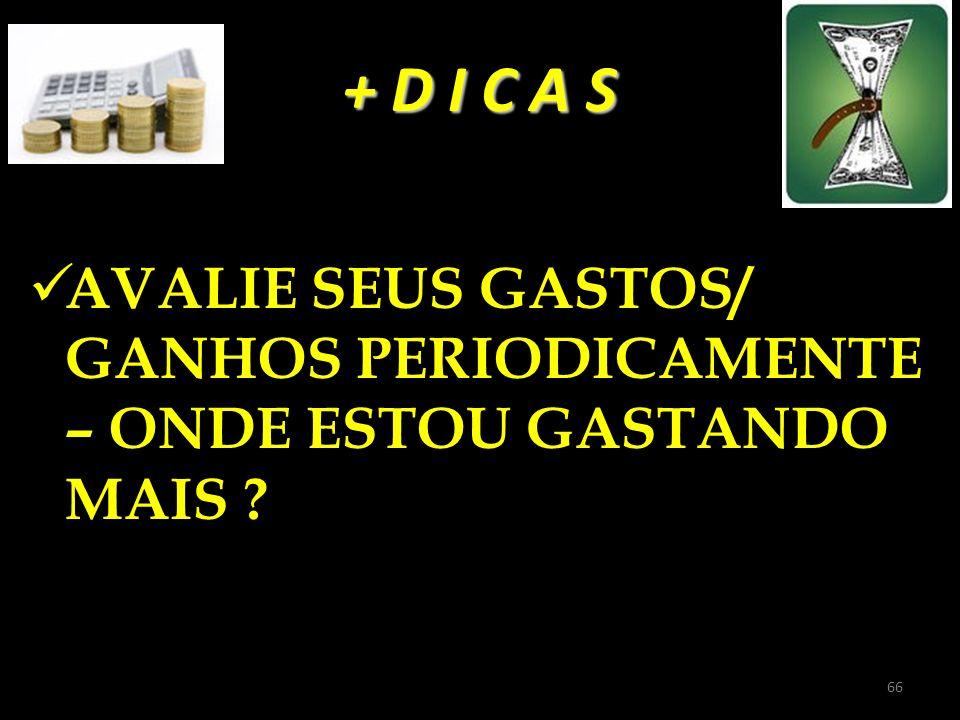 + D I C A S AVALIE SEUS GASTOS/ GANHOS PERIODICAMENTE – ONDE ESTOU GASTANDO MAIS ? 66