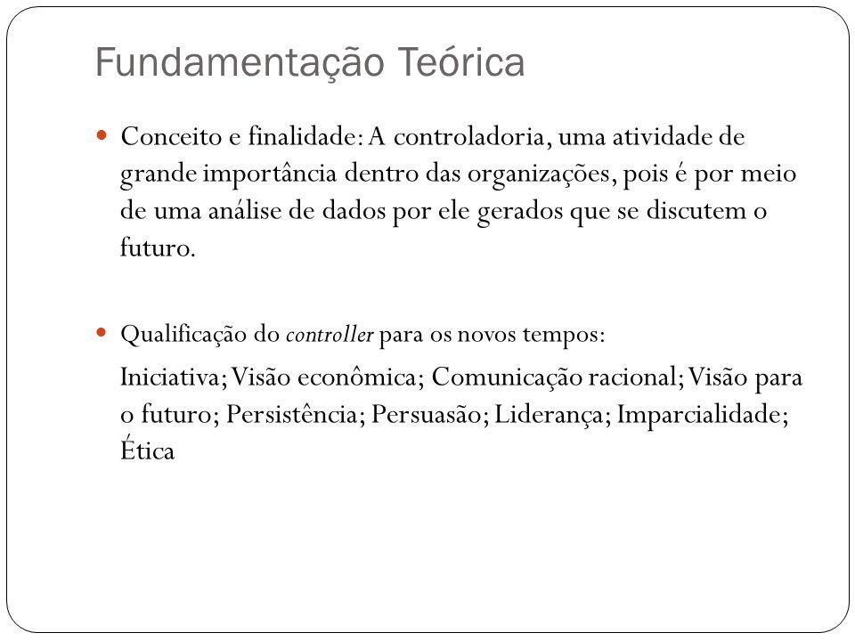 Fundamentação Teórica Conceito e finalidade: A controladoria, uma atividade de grande importância dentro das organizações, pois é por meio de uma anál