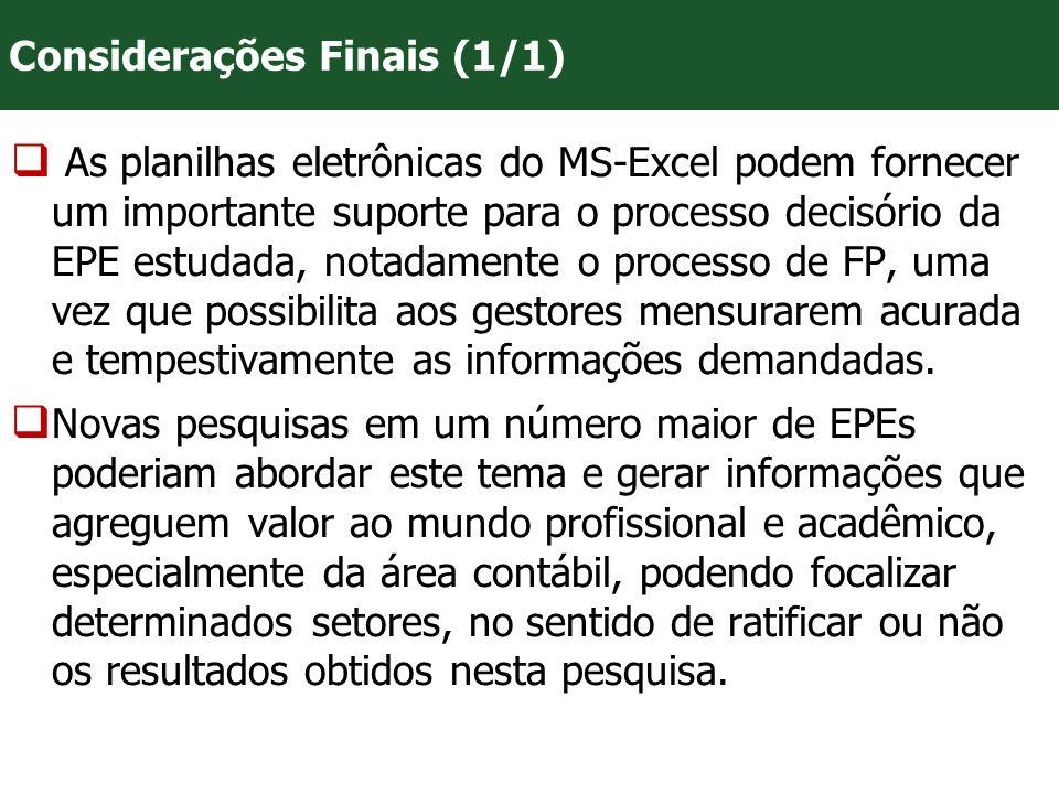 VII Convenção Mineira de Contabilidade - Belo Horizonte/MG As planilhas eletrônicas do MS-Excel podem fornecer um importante suporte para o processo d