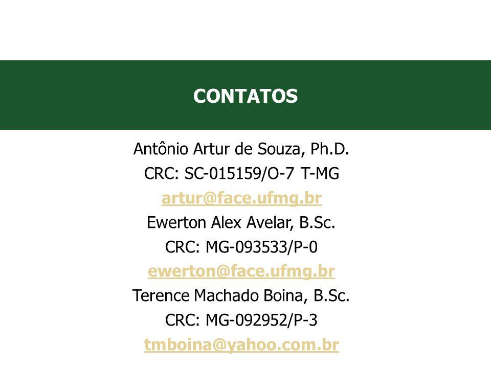 VII Convenção Mineira de Contabilidade - Belo Horizonte/MG CONTATOS Antônio Artur de Souza, Ph.D. CRC: SC-015159/O-7 T-MG artur@face.ufmg.br Ewerton A