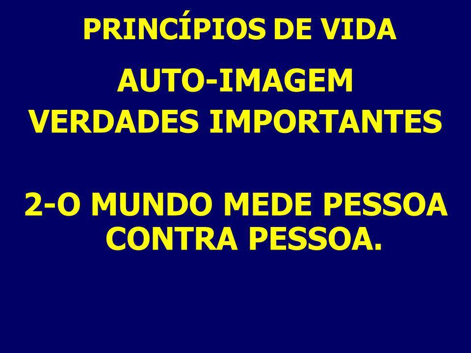 AUTO-IMAGEM EVIDÊNCIAS DE AUTO-REJEIÇÃO 5- DIFICULDADE EM AMAR AOS OUTROS MAT. 19:19