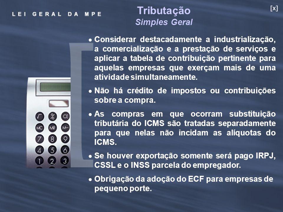 21 Considerar destacadamente a industrialização, a comercialização e a prestação de serviços e aplicar a tabela de contribuição pertinente para aquela