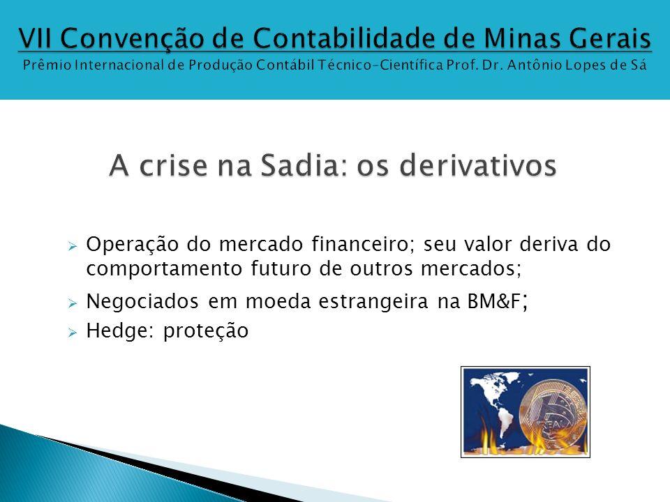 Operação do mercado financeiro; seu valor deriva do comportamento futuro de outros mercados; Negociados em moeda estrangeira na BM&F ; Hedge: proteção