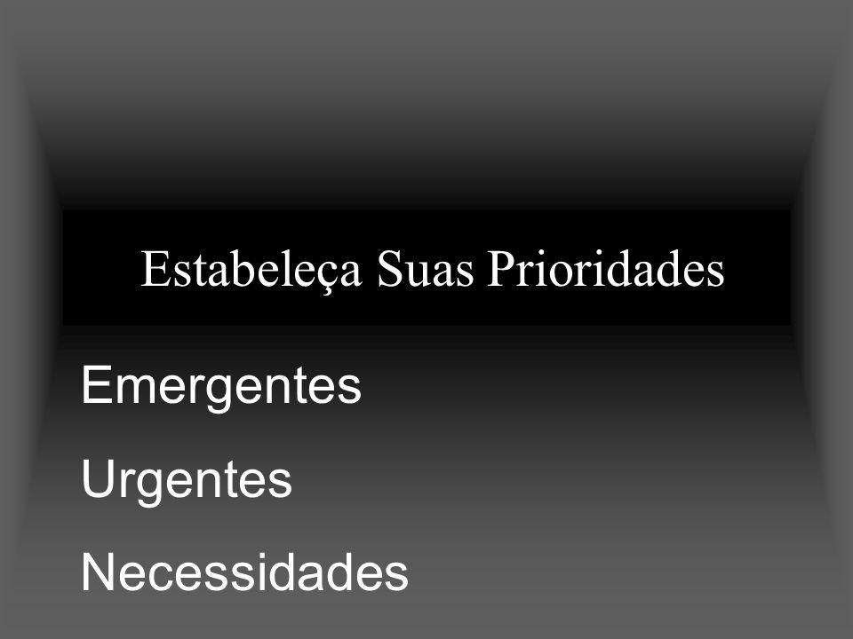 Estabeleça Suas Prioridades Emergentes Urgentes Necessidades