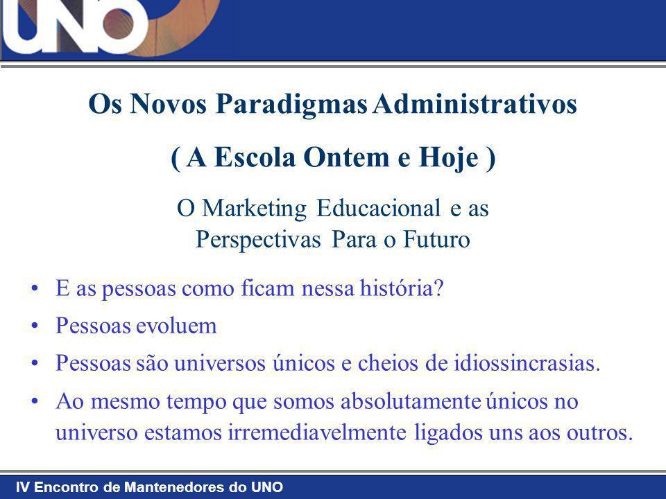 IV Encontro de Mantenedores do UNO ADMINISTRANDO A MUDANÇA VisãoCompetênciasRecursos Plano de Ação Plano de Ação Plano de Ação Plano de Ação = Mudanças = Confusão = Ansiedade = Frustração = Falsos Começos + + + + + + + + + + + Visão Competências Recursos