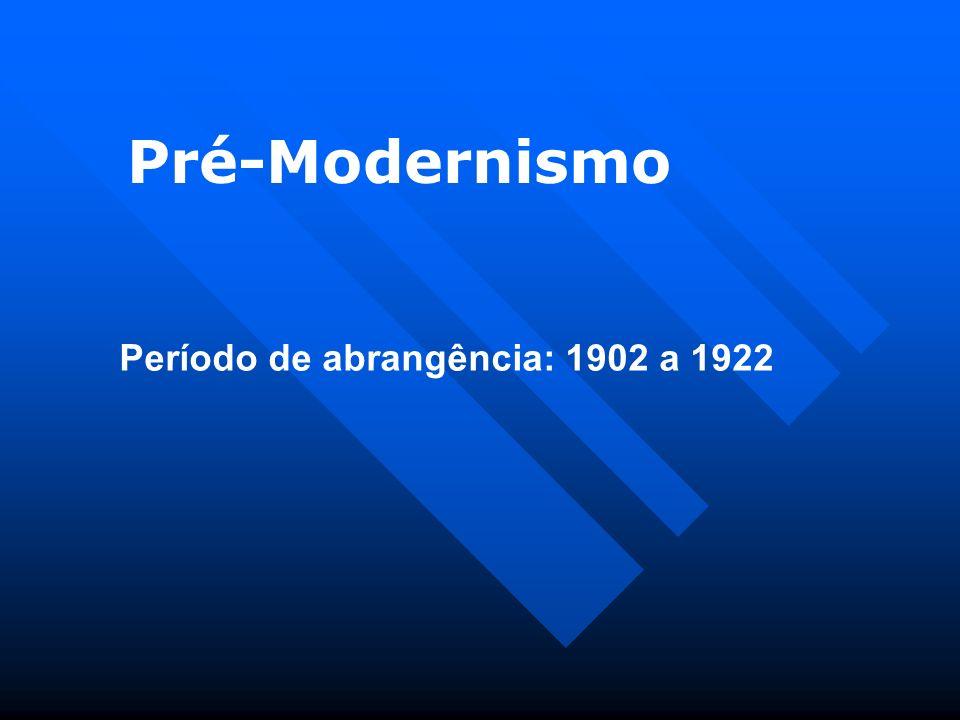 A literatura brasileira atravessa um período de transição nas primeiras décadas do século XX.