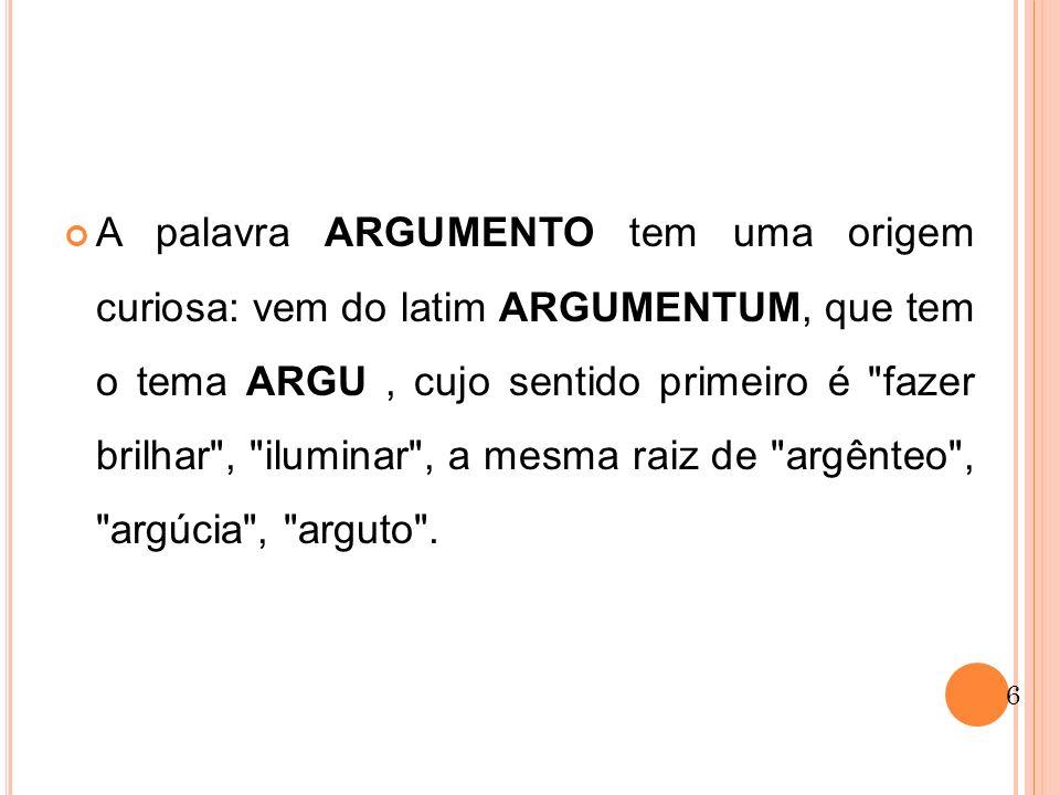 Os argumentos de um texto são facilmente localizados: identificada a tese, faz-se a pergunta por quê.