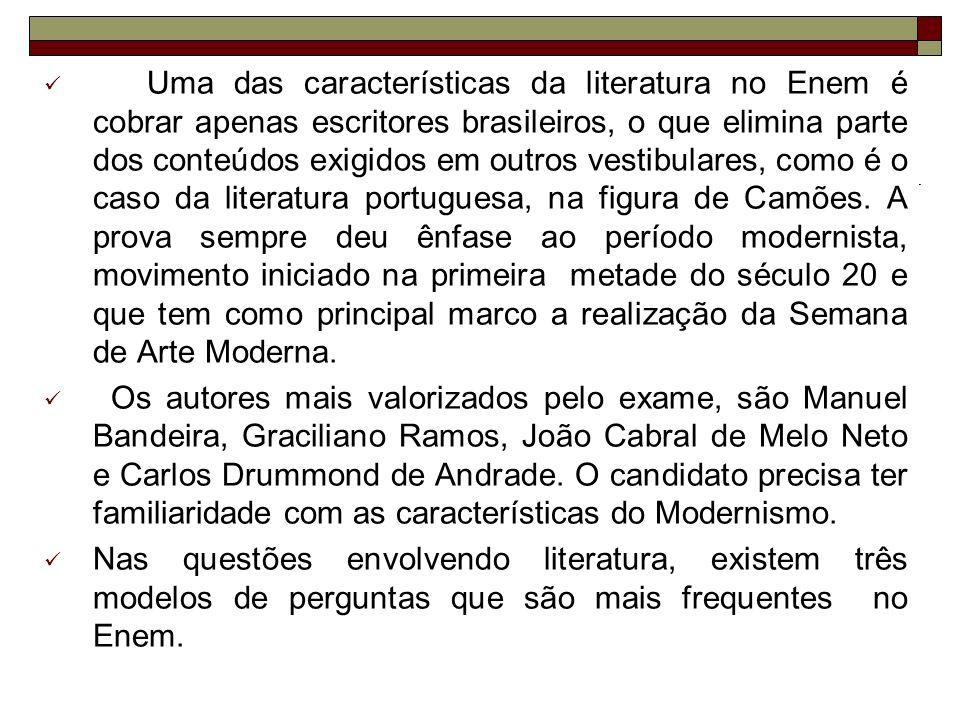 05) Com base na leitura do poema, podemos afirmar corretamente que o poeta: a) critica o lirismo louco do movimento modernista.