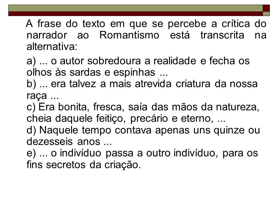 03) O texto abaixo foi extraído de uma crônica de Machado de Assis e refere-se ao trabalho de um escravo.
