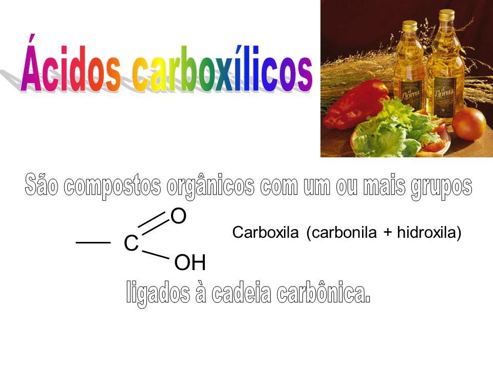 C OH O Carboxila (carbonila + hidroxila)