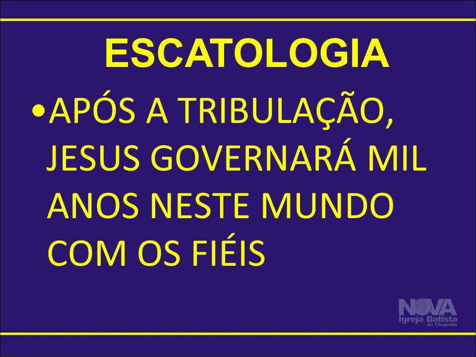 APÓS A TRIBULAÇÃO, JESUS GOVERNARÁ MIL ANOS NESTE MUNDO COM OS FIÉIS ESCATOLOGIA