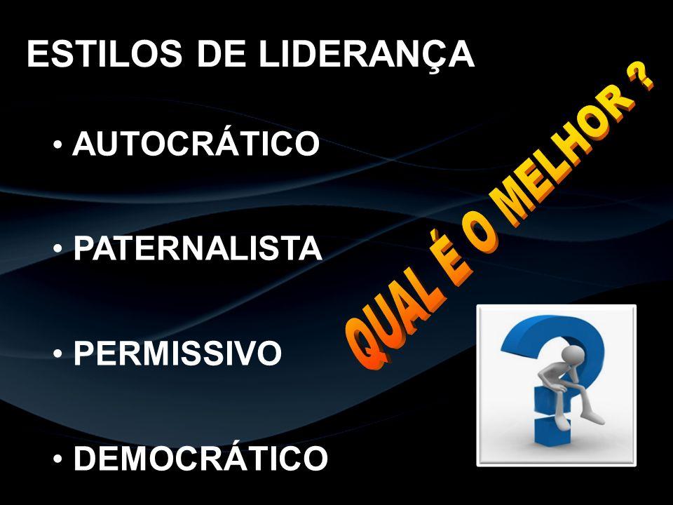 AUTOCRÁTICO PATERNALISTA PERMISSIVO DEMOCRÁTICO