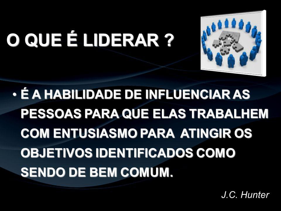 ATUAÇÃO DO LÍDER...