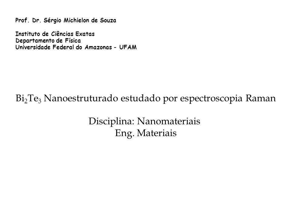 Prof. Dr. Sérgio Michielon de Souza Instituto de Ciências Exatas Departamento de Física Universidade Federal do Amazonas - UFAM Bi 2 Te 3 Nanoestrutur