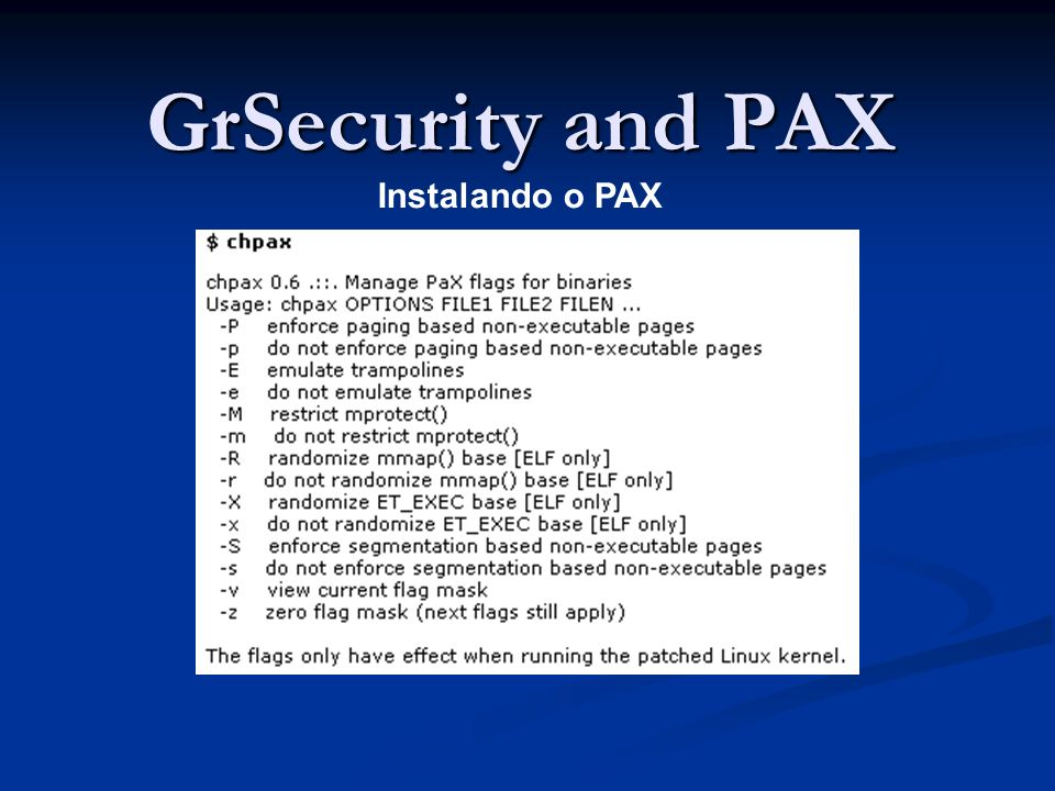 GrSecurity and PAX Instalando o PAX