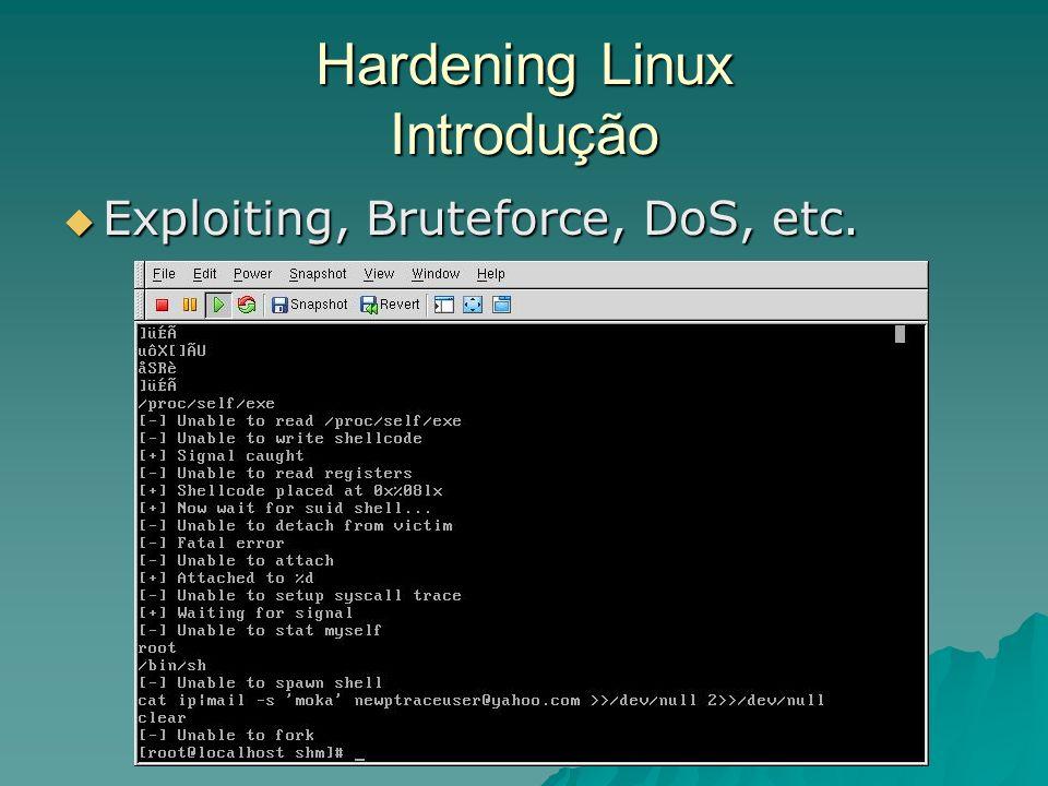 Ex: Configuração WRAPPER no Host B # configuração do arquivo hosts.allow ## Telnet aberto para a máquina 200.201.75.1 in.telnetd:200.201.75.1 ********************************************** #configuração do arquivo hosts.denny ## Nega para todos, exceto os permitidos no hosts.allow in.telnetd:ALL