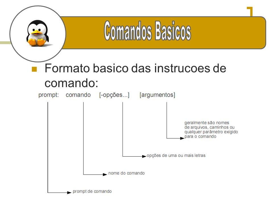 e Formato basico das instrucoes de comando: