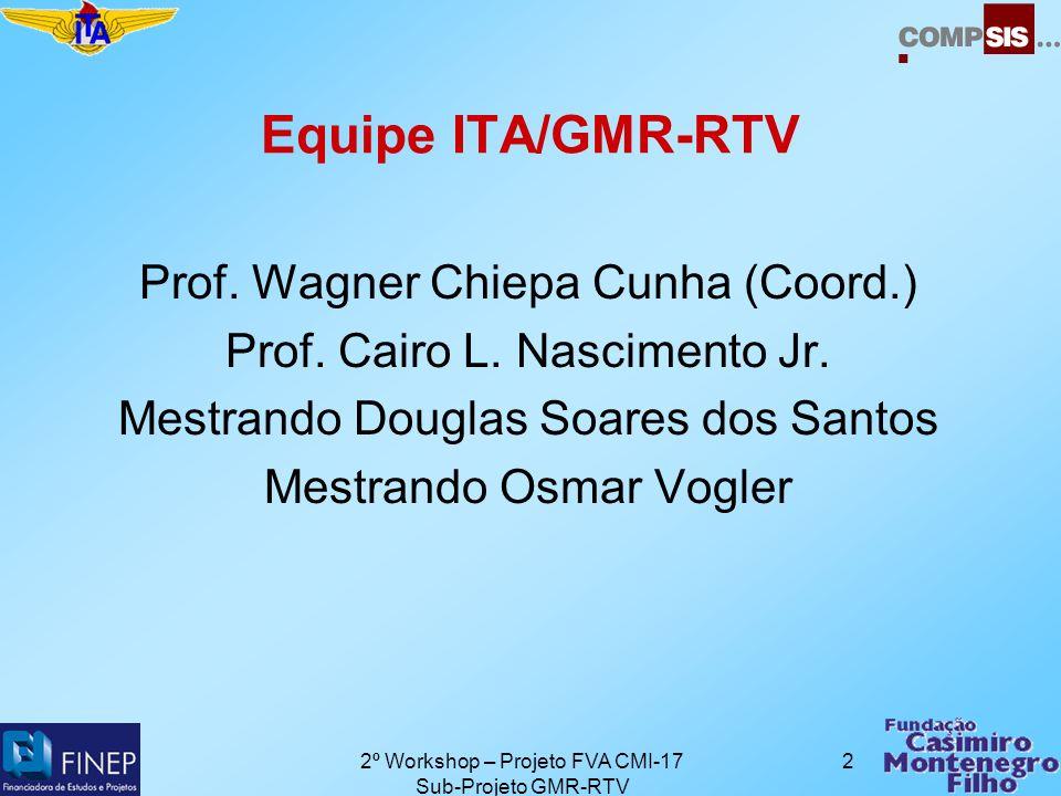 2º Workshop – Projeto FVA CMI-17 Sub-Projeto GMR-RTV 2 Equipe ITA/GMR-RTV Prof.