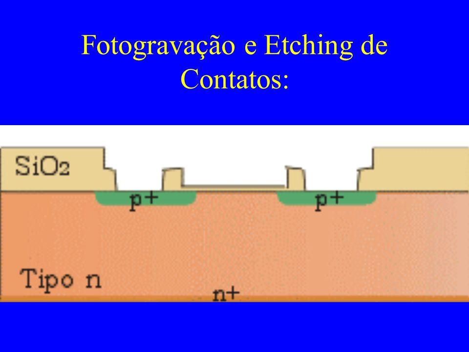 Fotogravação e Etching de Contatos: