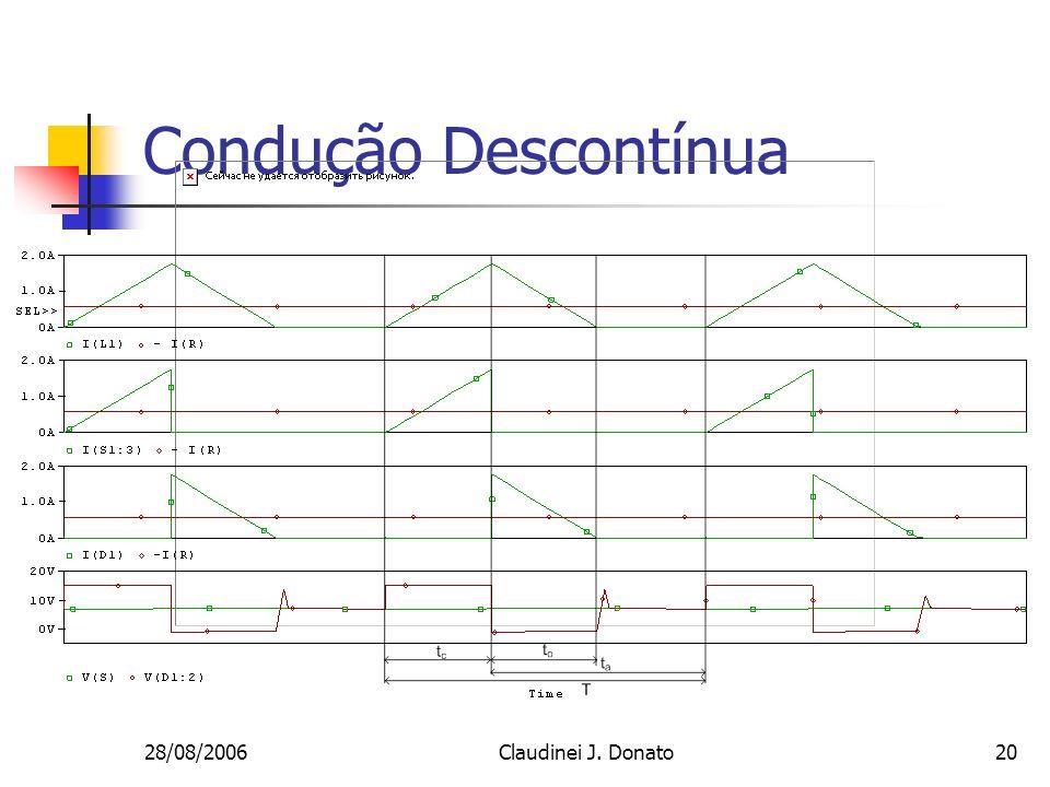 28/08/2006Claudinei J. Donato20 Condução Descontínua