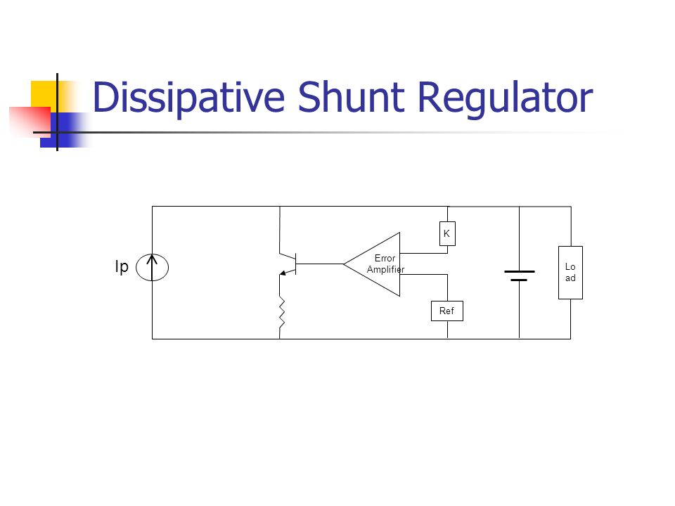 Dissipative Shunt Regulator Ip Error Amplifier K Lo ad Ref