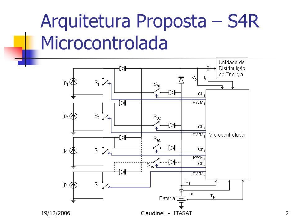 19/12/2006Claudinei - ITASAT3 Modelagem e Simulação Circuito de uma string do painel solar: