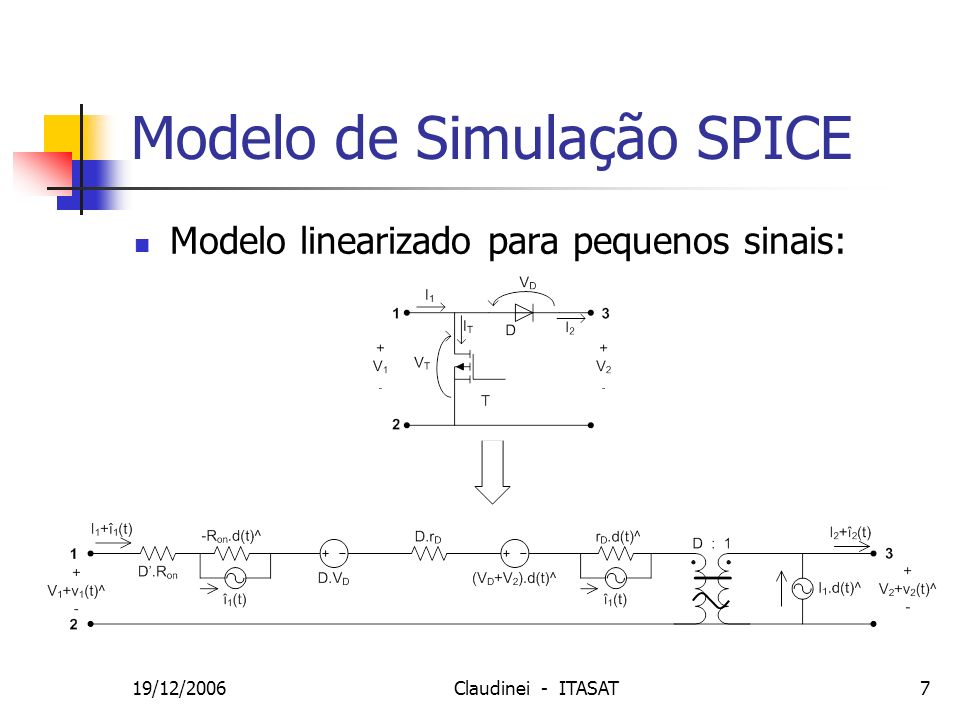 19/12/2006Claudinei - ITASAT18 Valor Medido Realimentação de Tensão e Corrente Vout = 14,05 V D = 0,5