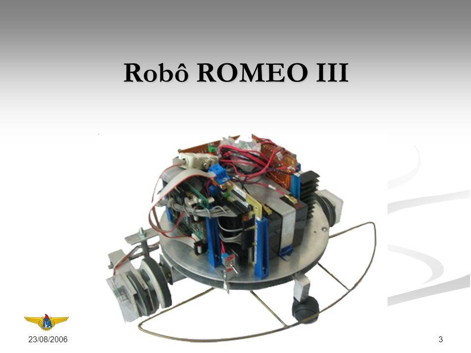 23/08/2006 4 Configuração adotada para o controle via internet do robô ROMEO III.
