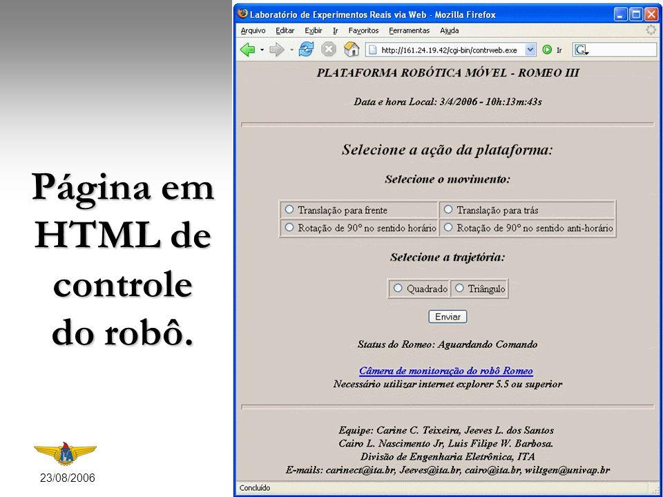23/08/2006 7 Status do comando enviado para o robô