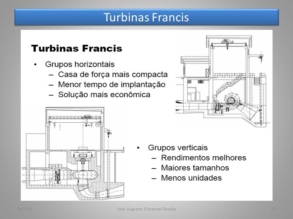 Turbinas Francis 19Nov/09José Augusto Pimentel Pessôa