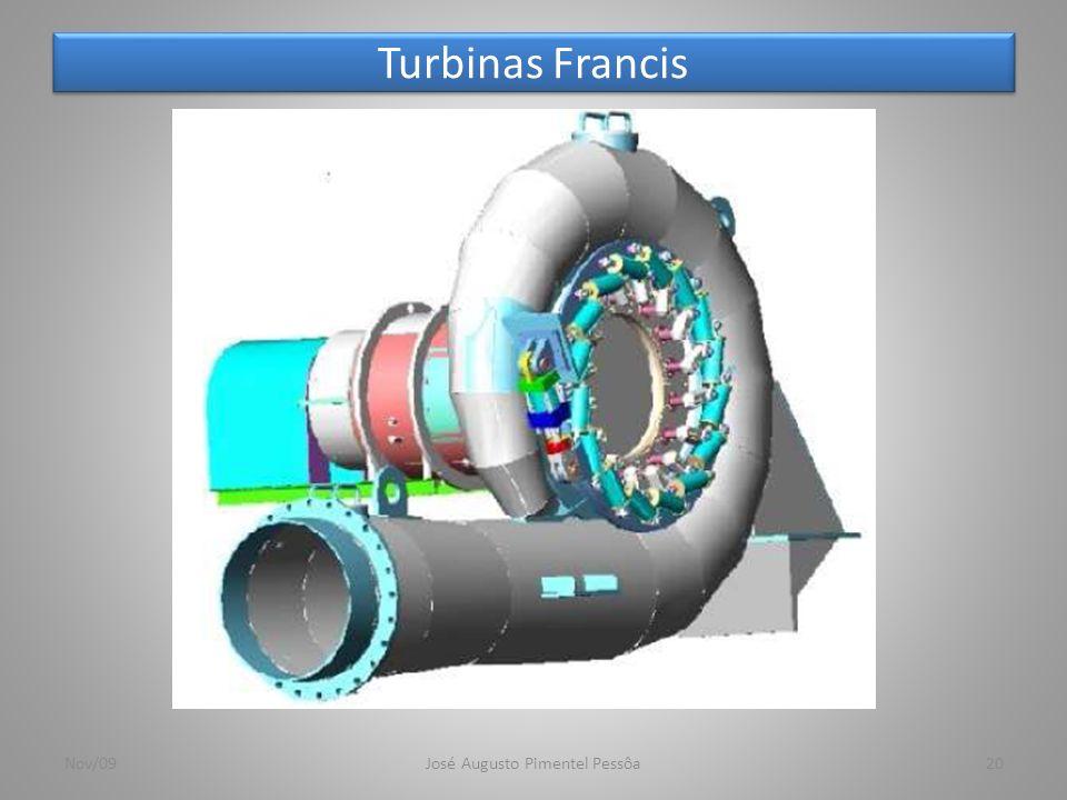 Turbinas Francis 20Nov/09José Augusto Pimentel Pessôa