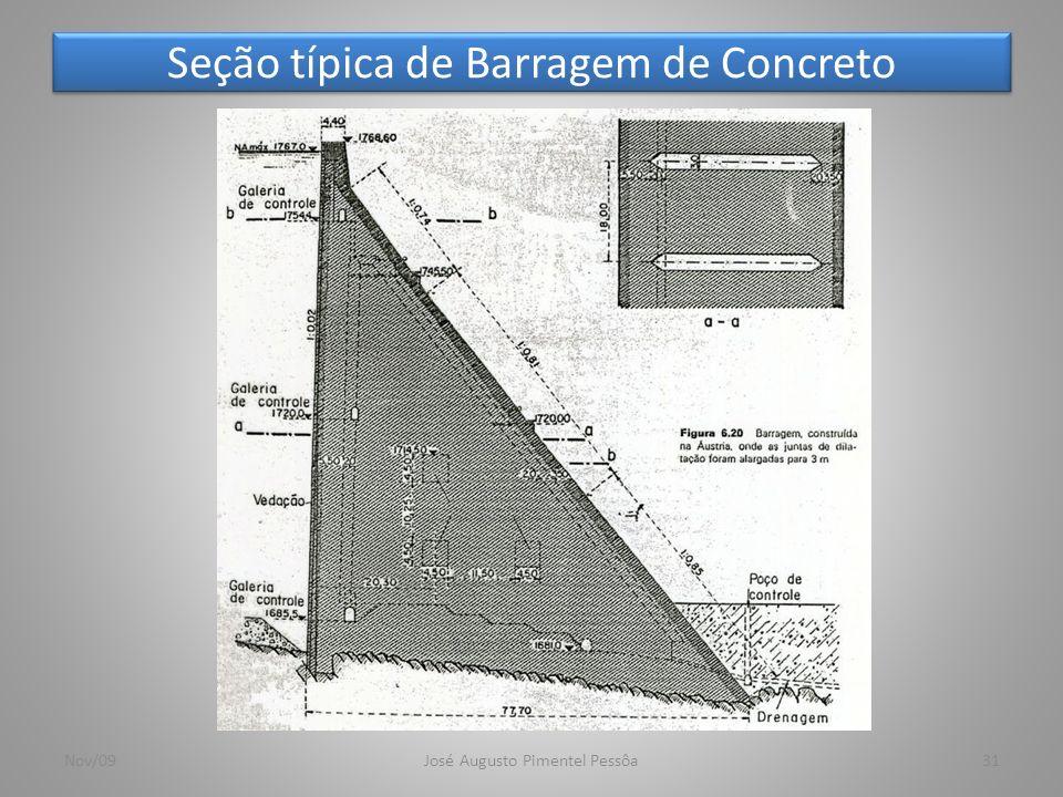 Seção típica de Barragem de Concreto 31Nov/09José Augusto Pimentel Pessôa