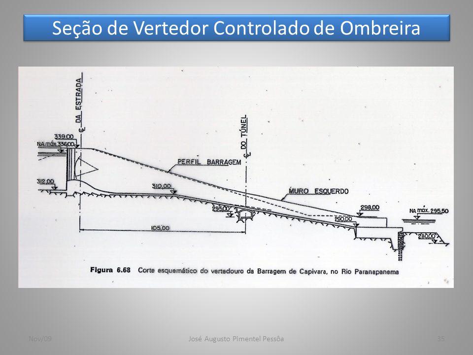 Seção de Vertedor Controlado de Ombreira 35Nov/09José Augusto Pimentel Pessôa