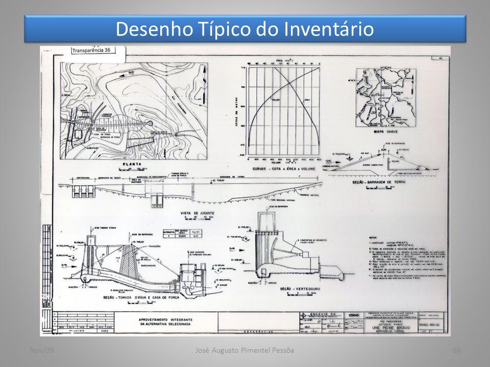 Desenho Típico do Inventário 66Nov/09José Augusto Pimentel Pessôa