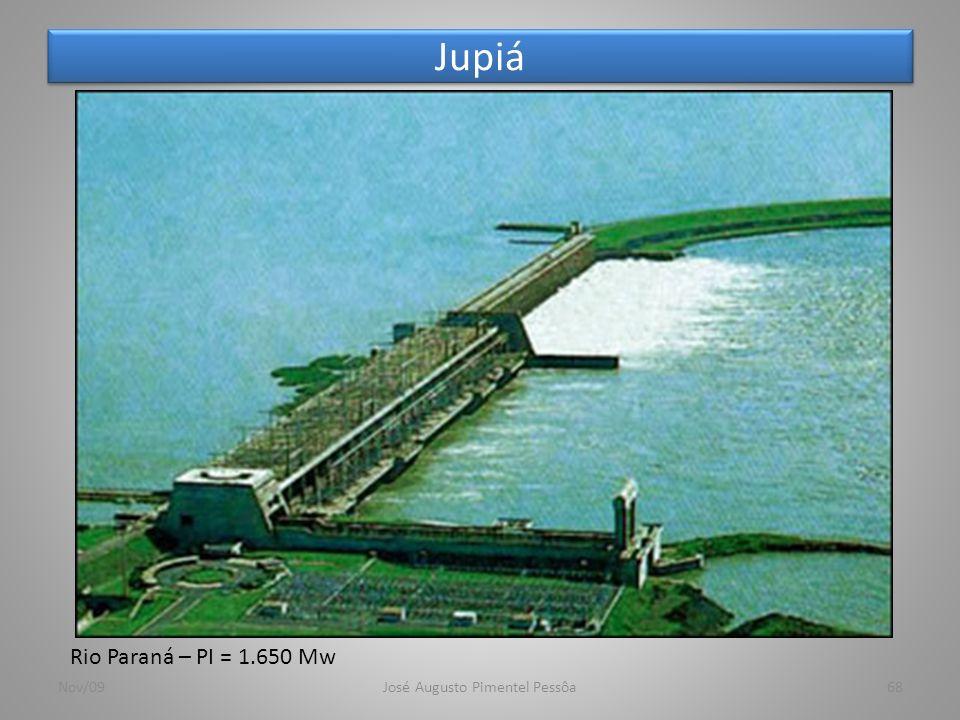 Jupiá Nov/09José Augusto Pimentel Pessôa68 Rio Paraná – PI = 1.650 Mw