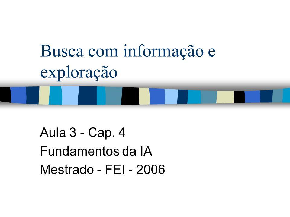 Busca com informação e exploração Aula 3 - Cap. 4 Fundamentos da IA Mestrado - FEI - 2006