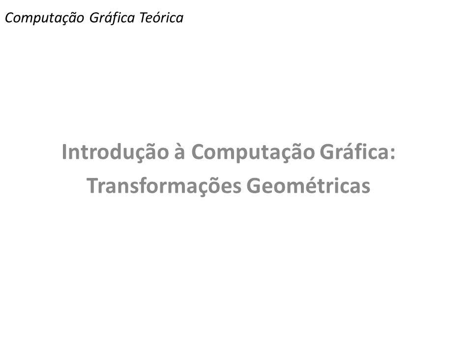 Computação Gráfica Teórica Introdução à Computação Gráfica: Transformações Geométricas